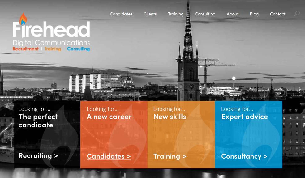 Firehead new homepage