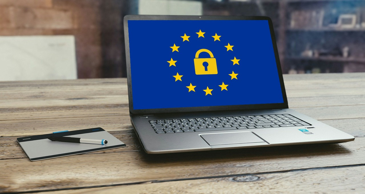 GDPR on laptop